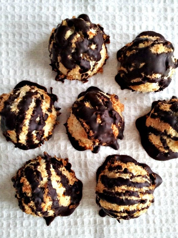 chocolate covered macaroons