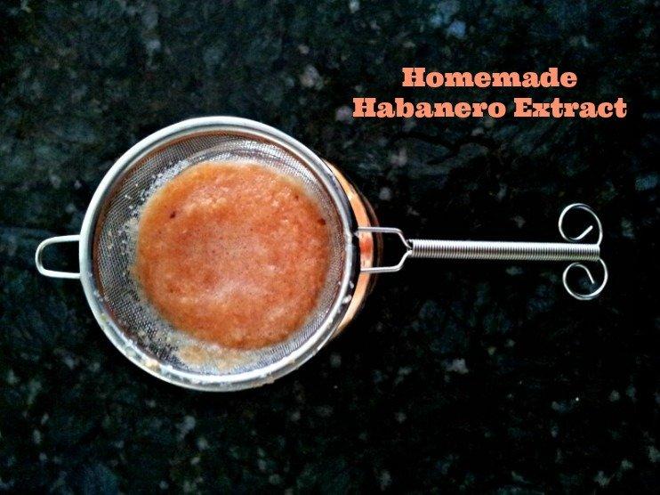 homemade habanero extract