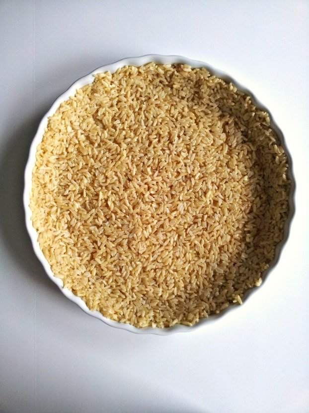 brown rice crust