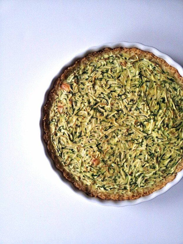For kicks I put a basil leaf mustache on my tart. It's the thing to ...