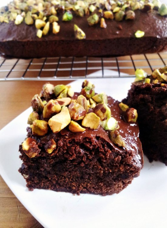 pistachio brownies