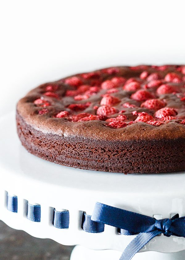 Raspberry Chocolate Fudge Cake