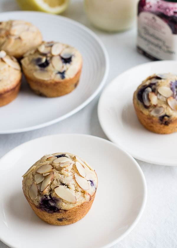 Lemon Almond Blueberry Muffins