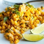 Corn off the Cob with Butter, Lime, & Ancho Chili + How to Strip an Ear of Corn the Tidy Way