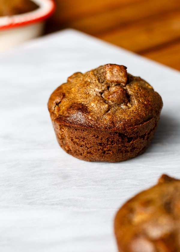 maple buckwheat apple muffin