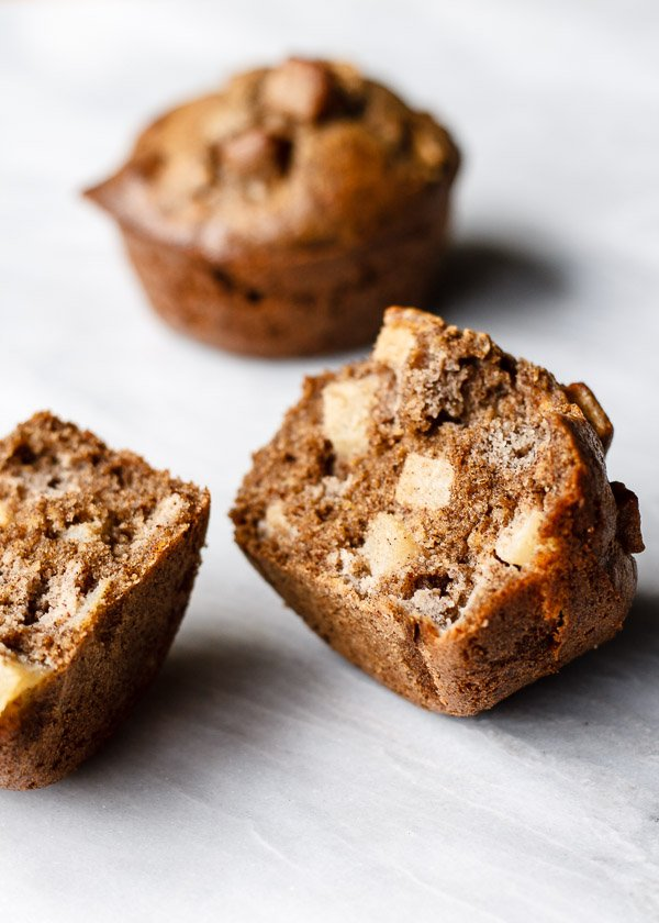 Maple Buckwheat Apple Muffins