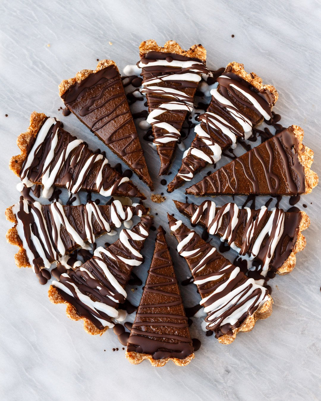 Chocolate Avocado Tart | Vegan, No Bake, and Gluten Free | Lu Xia