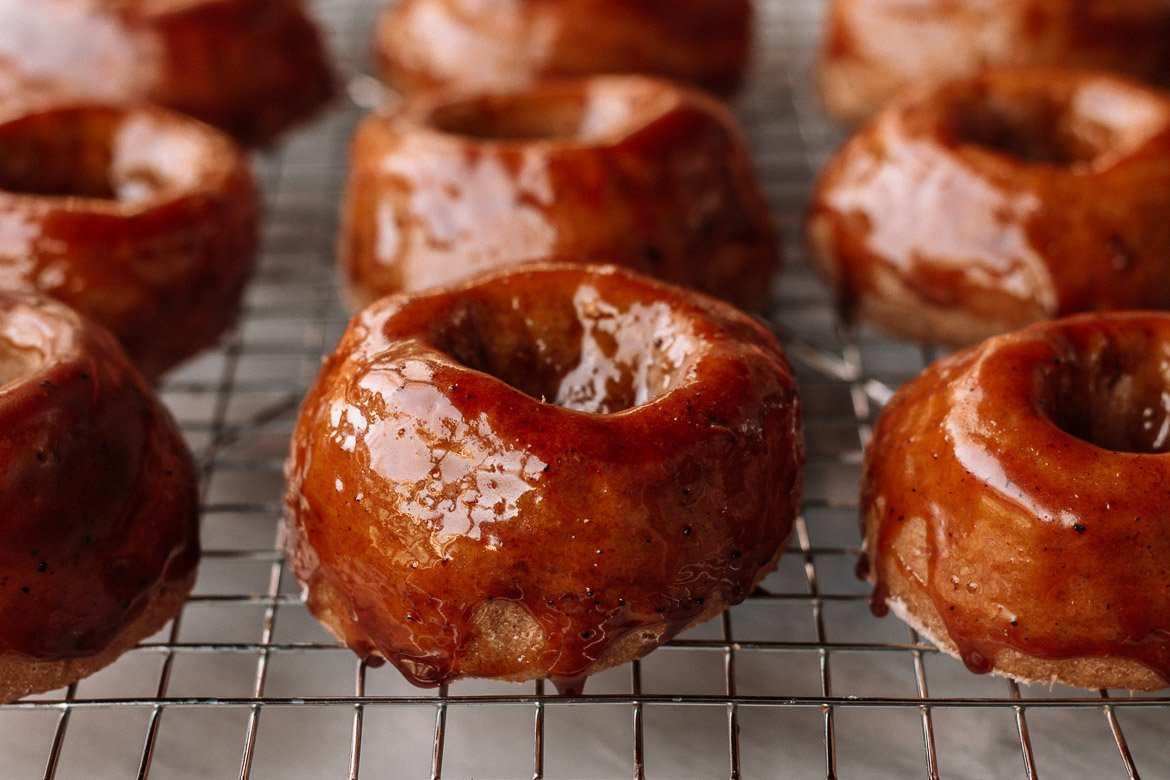 Baked Sweet Potato Whole Wheat Doughnuts